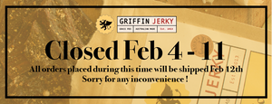 We're closed from Feb 4 to 11, 2021
