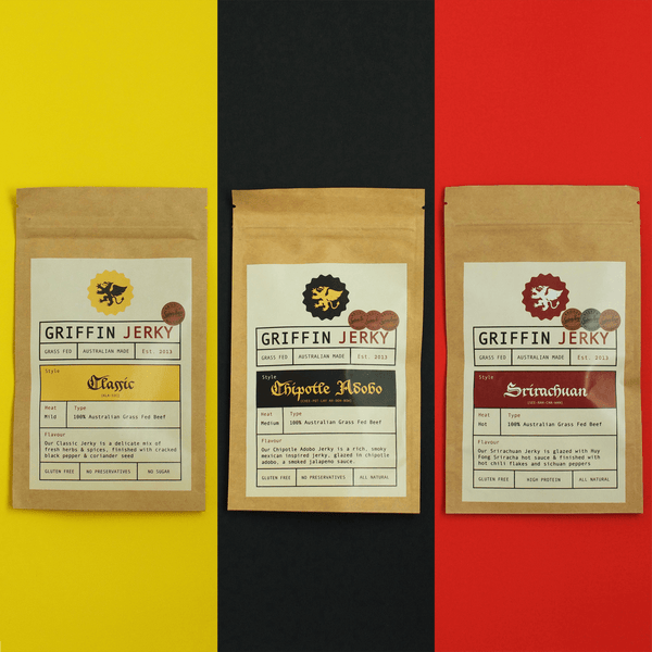 90g Sample Pack - 3 x 30g packs - Griffin Jerky
