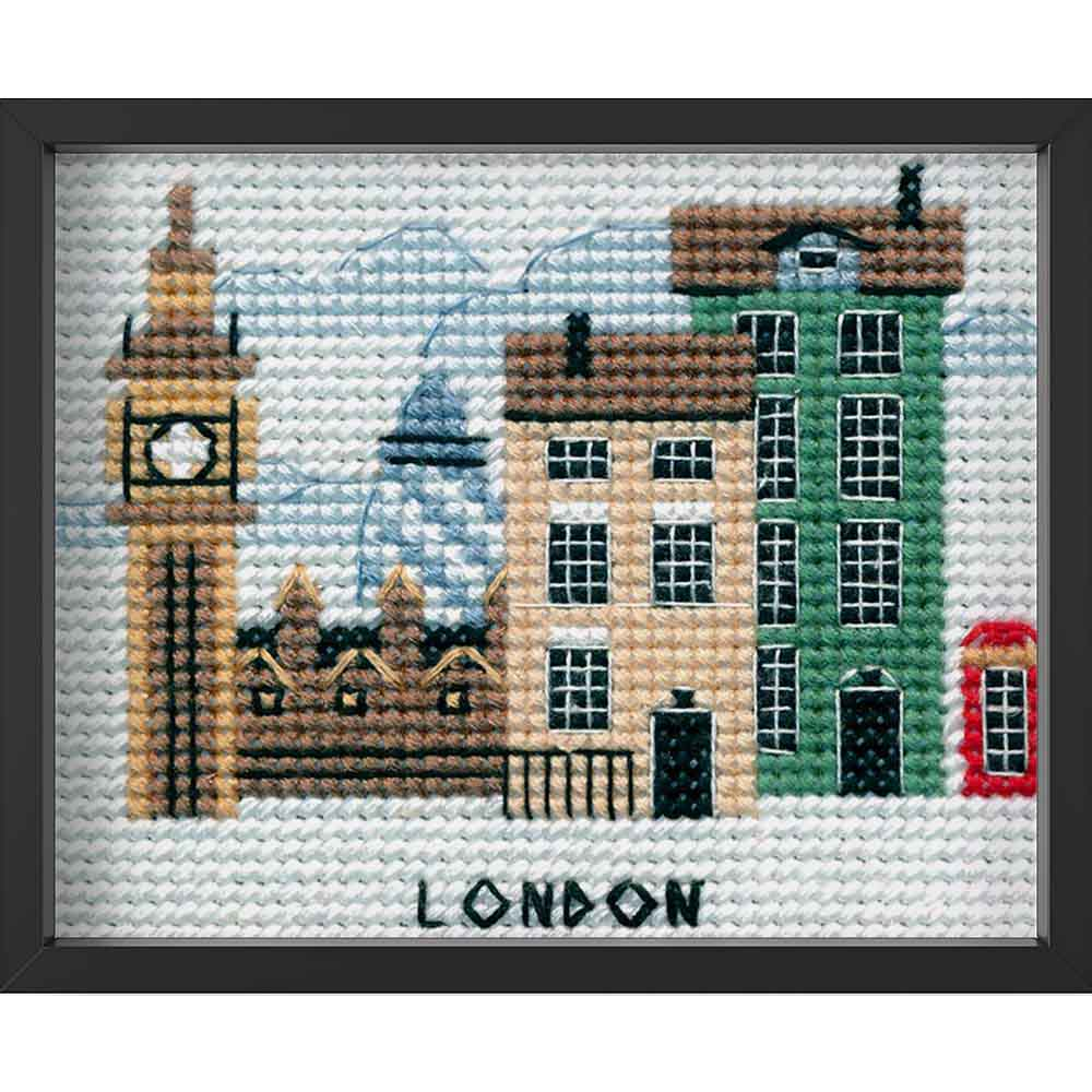 Kreuzstich - London | 10x10 cm - Diy - Fadenkunst