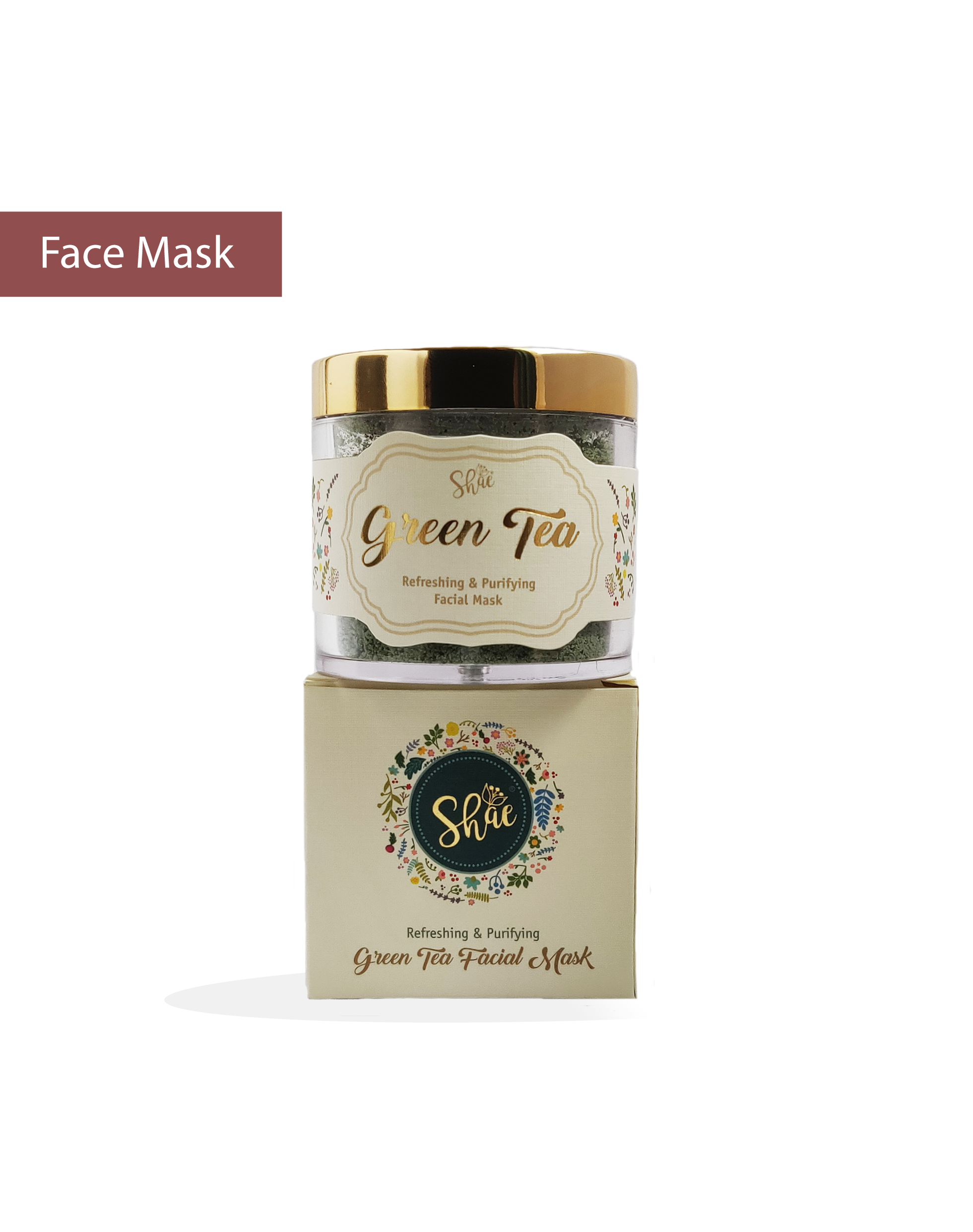 Green Tea Facial Mask by Shae (100 gm) - Shae