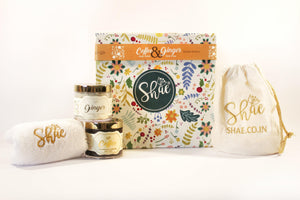 Spa Gift Kit by Shae| Coffee Body Scrub & Ginger Body Wrap - Shae
