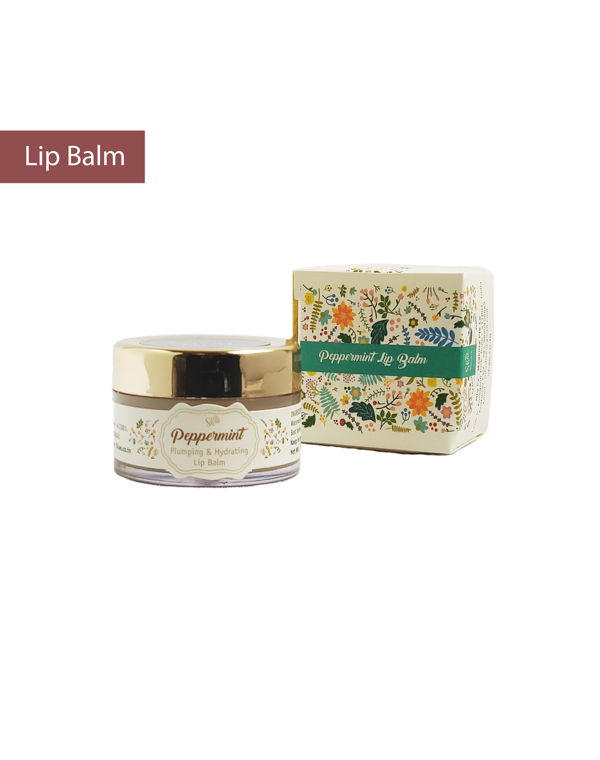Peppermint Hydrating and Plumping Lip balm (15 gm) - Shae
