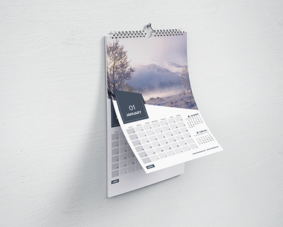 Wire Edge Wall Calendars 2020 Uniquely Printed For Your Business Print Studio Scotland