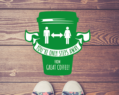 Coffee Shop Floor Sticker Green