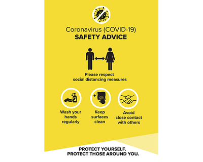 Covid Safety Posters Yellow