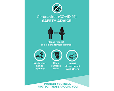 Covid Safety Poster Turquoise