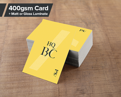 HQ Business Cards 400gsm