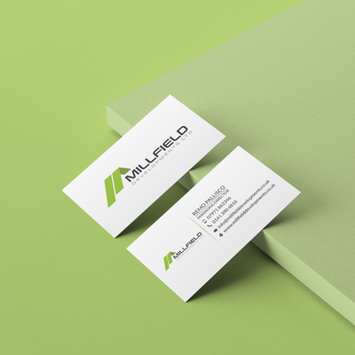 Millfield Business Card Artwork
