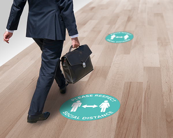 Social Distance Floor Stickers