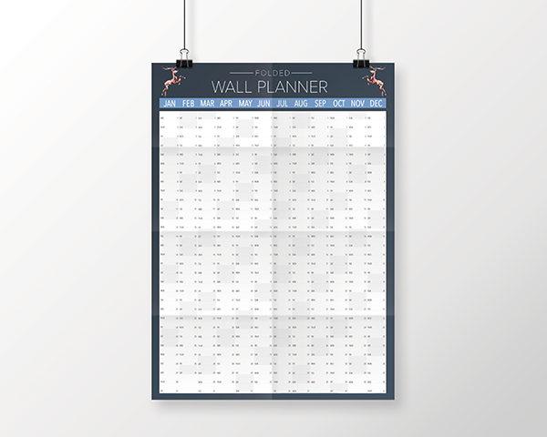 Folded 2020 Wall Planners