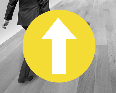 Social Distance Floor Stickers Yellow