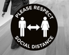 Black Social Distance Floor Stickers