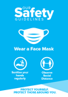 Face Mask Signs Blue