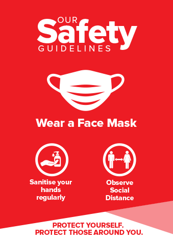 Face Mask Signs Red