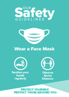 Face Mask Signs Turquoise