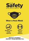 Face Mask Signs Yellow
