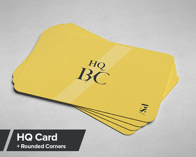 HQ Business Card Rounded Corners