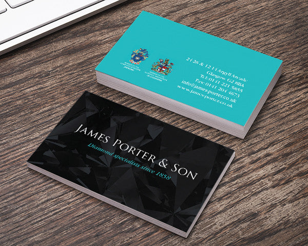 Creative business card printing glasgow scotland print studio luxe business cards reheart Choice Image