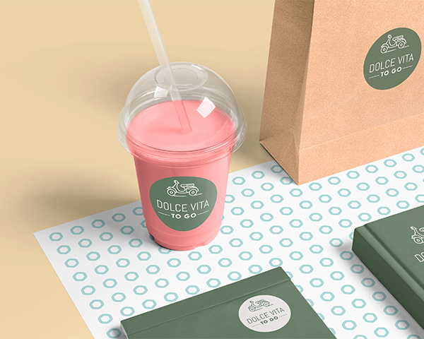 Takeaway Cup Stickers and Labels