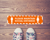 1m Social Distance Floor Strip Orange