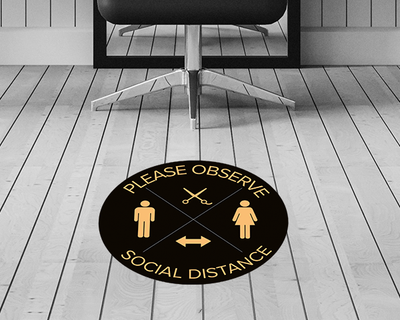 Salon Floor Stickers