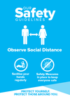 Social Distance Signs Blue