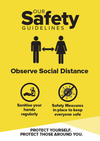 Social Distance Signs Yellow