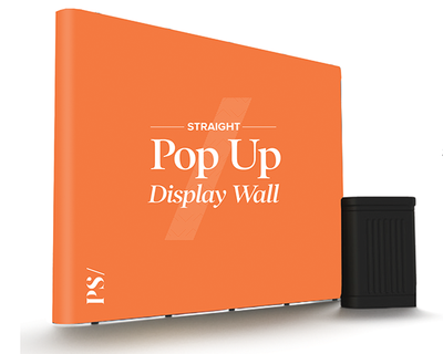 Magnetic Pop Up Display Wall - Straight