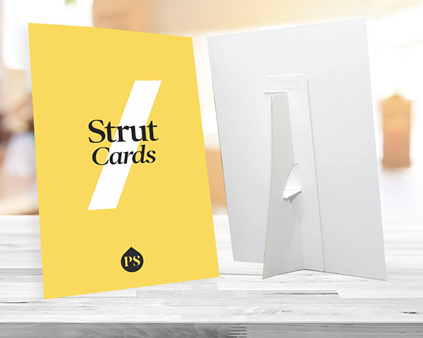 Table Top Strut Cards