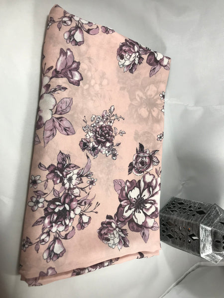 Lavender floral on Blush Pink