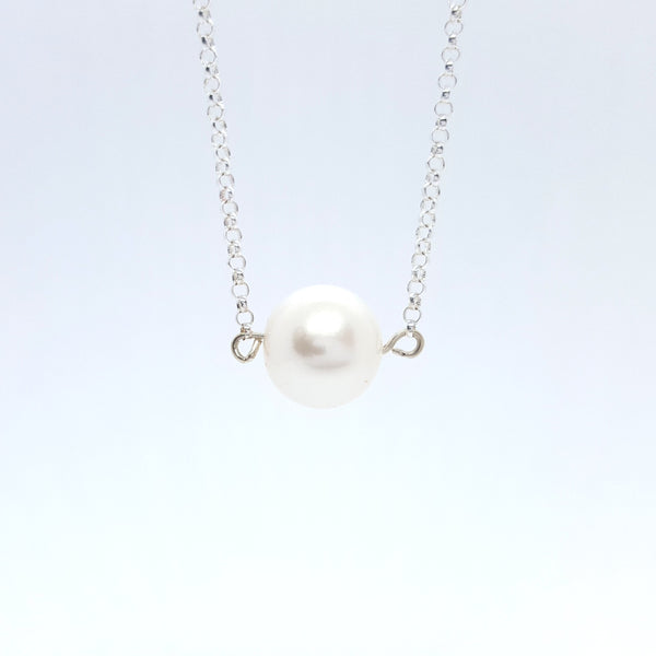 Bianca - Silver and Pearl Necklace - Spada Diamonds