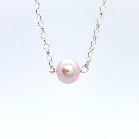 Rosa - Silver and Pearl Necklace - Spada Diamonds