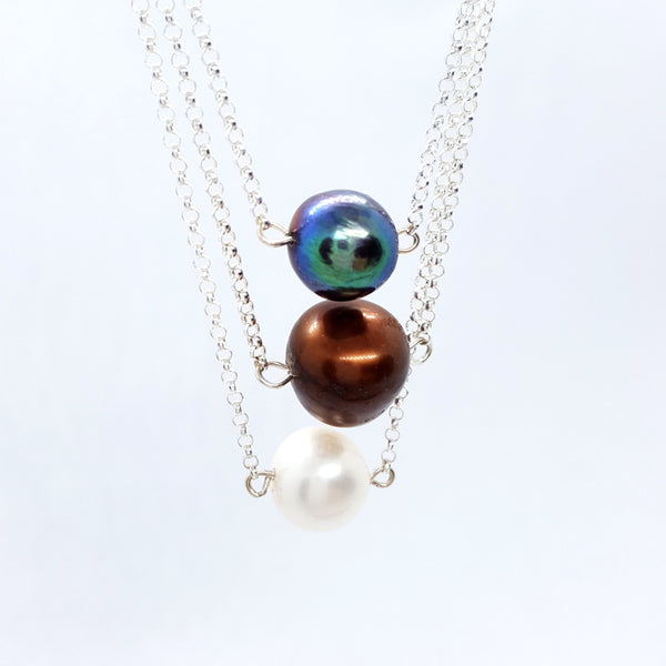 Azzura - Silver and Pearl Necklace - Spada Diamonds