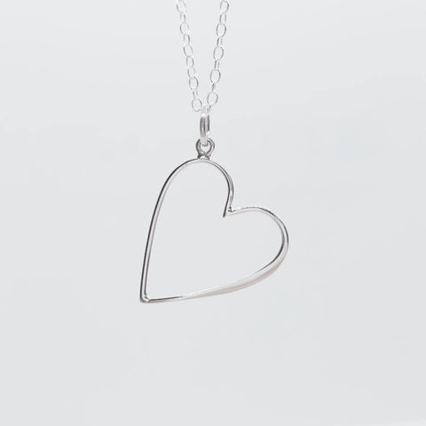 Inner Heart Sterling Silver Necklace