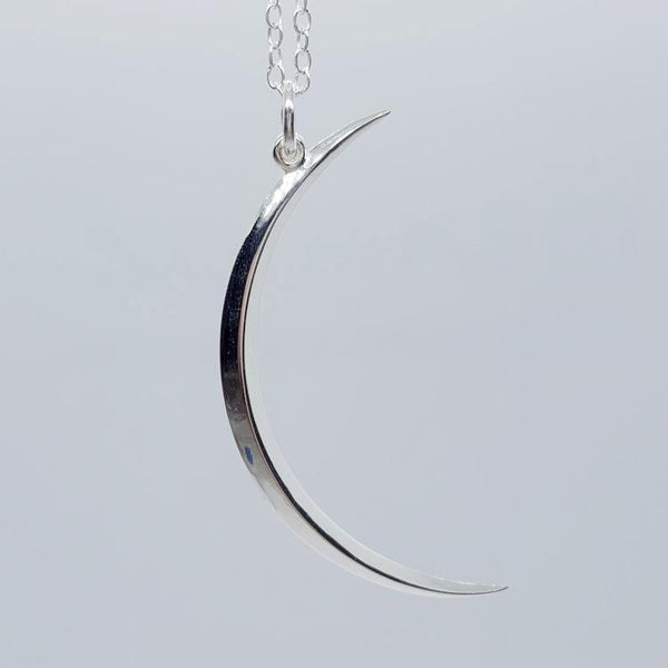 Crescent Moon Sterling Silver Necklace