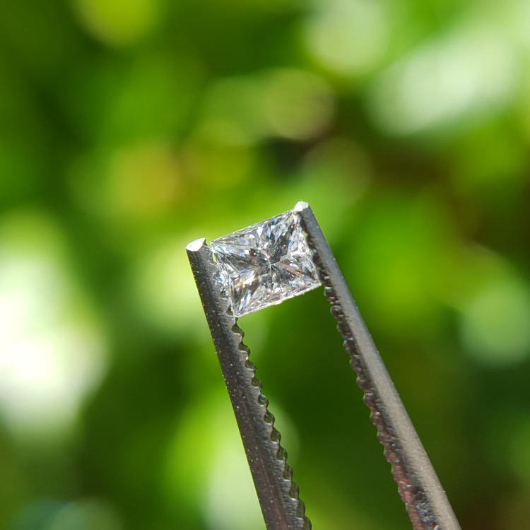 Natural 0.18ct D SI1 Square Princess Diamond