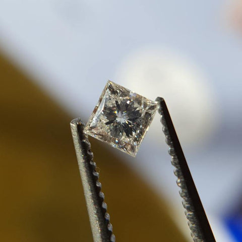 Natural 0.24ct F SI3 Princess Diamond - Spada Diamonds