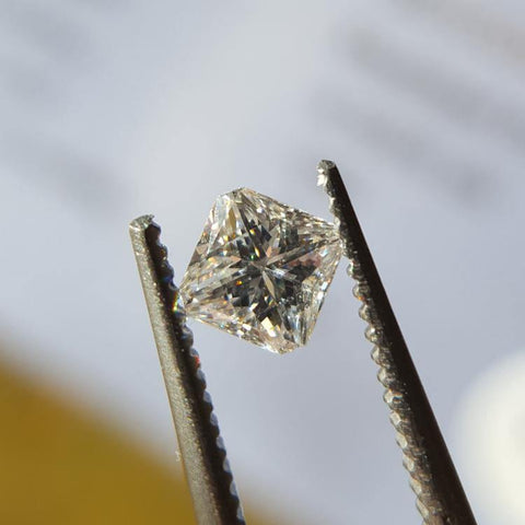 Natural 0.32ct D VS2 Modified Princess Diamond - Spada Diamonds