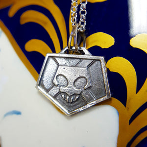 Silver Bleach Anime Combat Pass Necklace with Chain