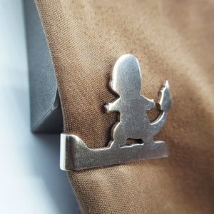 Silver Pokemon Charmander Tie Clip Pin