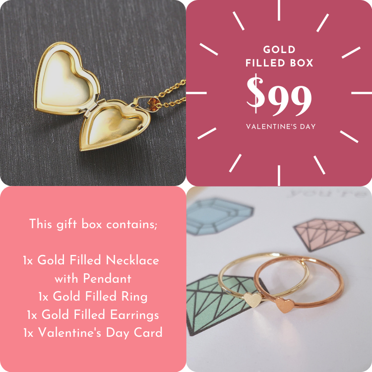 Valentine's Day - Gold Filled Box