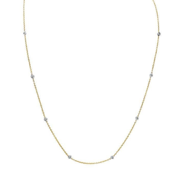 14kt Gold Alessia Diamond Necklace - Spada Diamonds