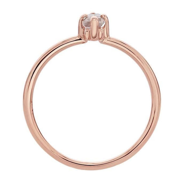 14kt Rose Gold and Rose Quartz Baguette Ring - Spada Diamonds
