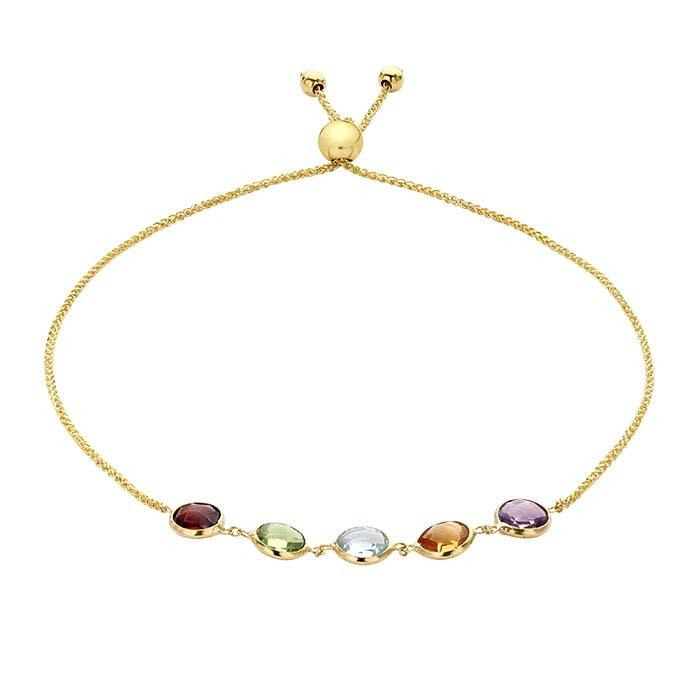14kt Yellow Gold Francesca Gemstone Bracelet - Spada Diamonds