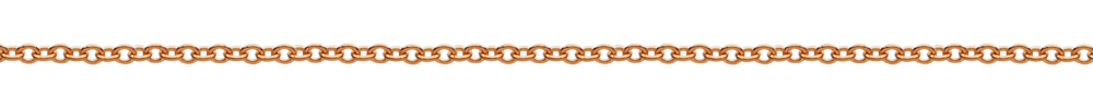 18 karat rose gold rolo chain necklace from Italy