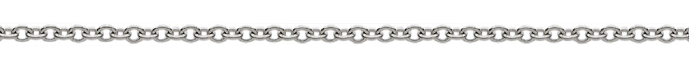 18 karat white gold rolo chain necklace from Italy