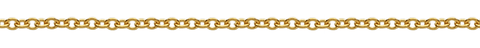 18 karat yellow gold rolo chain necklace from Italy