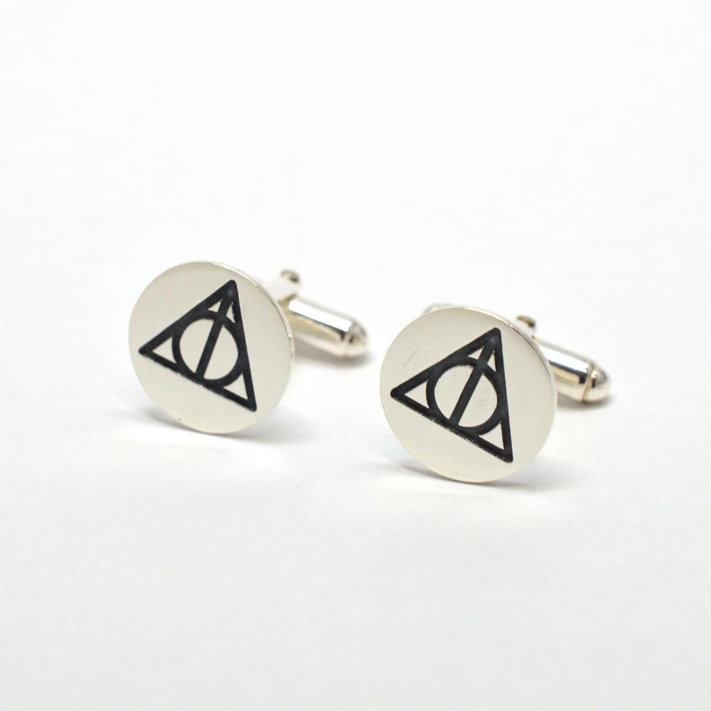 Deathly Hallows Silver Cufflinks - Spada Diamonds