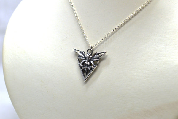 Silver Pokemon Instinct Zapdos Pendant and Chain Necklace