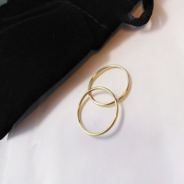 9kt Yellow Gold Endless Hoop Earrings - Spada Diamonds